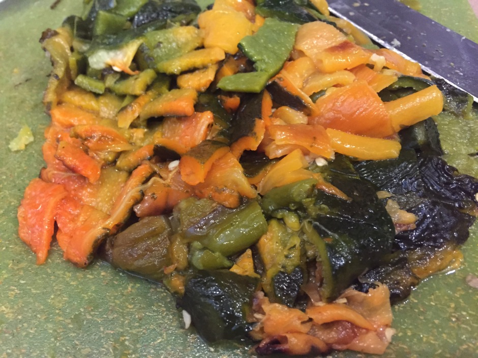 Chopped, roasted chiles