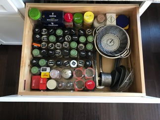 Organized spice drawer